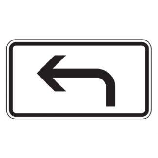 Richtung der Gefahrstelle linksweisend - Verkehrszeichen nach StVO