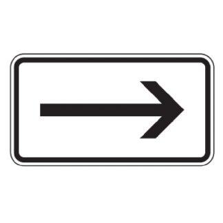 Richtung rechtsweisend - Verkehrszeichen nach StVO