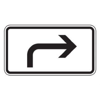 Richtung der Gefahrstelle rechtsweisend - Verkehrszeichen nach StVO