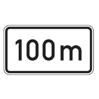 nach 100 m - Verkehrszeichen nach StVO