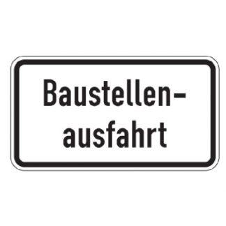 Baustellenausfahrt - Verkehrszeichen nach StVO