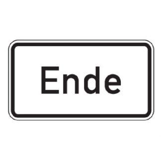 Ende - Verkehrszeichen nach StVO