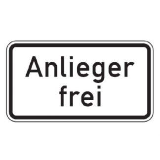 Anlieger frei - Verkehrszeichen nach StVO