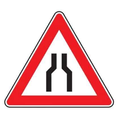 Verengte Fahrbahn - Verkehrszeichen nach StVO
