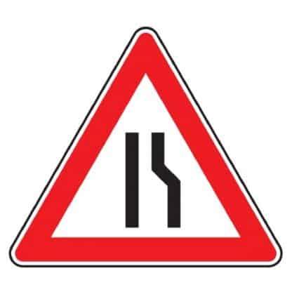 Einseitig rechts verengte Fahrbahn - Verkehrszeichen StVO