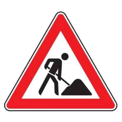 Baustelle - Verkehrszeichen nach StVO