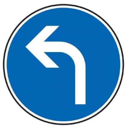 Vorgeschriebene Fahrtrichtung links - Verkehrszeichen nach StVO