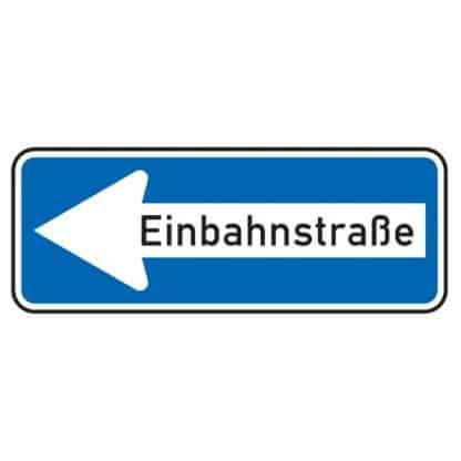 Einbahnstraße linksweisend - Verkehrszeichen nach StVO