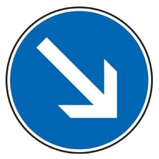 Vorgeschriebene Fahrtrichtung rechts vorbei - Verkehrszeichen nach StVO