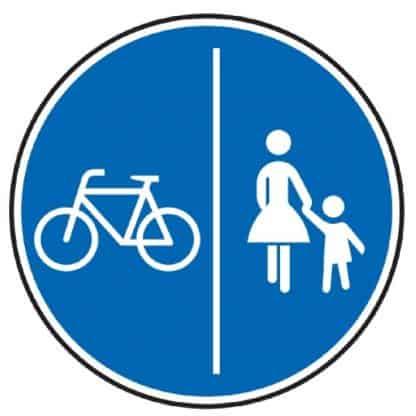 Gemeinsamer Fuß- und Radweg - Verkehrszeichen nach StVO