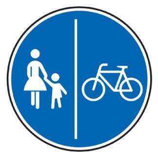 Getrennter Fuß- und Radweg - Verkehrszeichen nach StVO