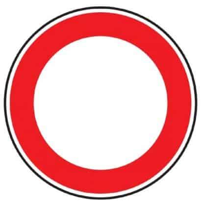 Verbot für Fahrzeuge aller Art - Verkehrszeichen nach StVO