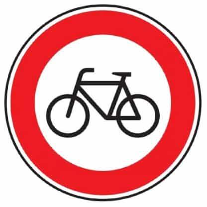 Verbot für Radfahrer - Verkehrszeichen nach StVO