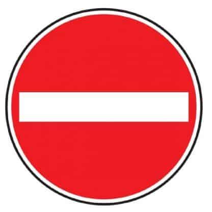 Verbot der Einfahrt - Verkehrszeichen nach StVO