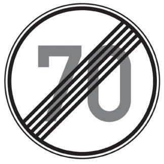Ende der zulässigen Höchstgeschwindigkeit - Verkehrszeichen nach StVO