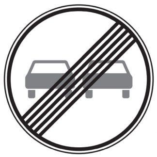 Ende des Überholverbotes für Kraftfahrzeuge aller Art - Verkehrszeichen nach StVO