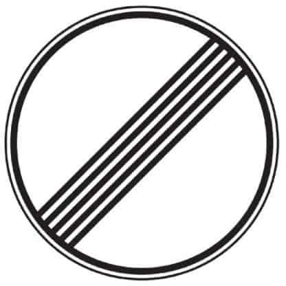 Ende sämtlicher Streckenverbote - Verkehrszeichen nach StVOEnde sämtlicher Streckenverbote - Verkehrszeichen nach StVO