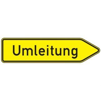 Umleitung rechtsweisend - Verkehrszeichen nach StVO